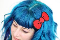 Cute Bow Hair Clip, Cute Bow, Red. £12.00, via Etsy. (about $19.37 USD) NEED!!!