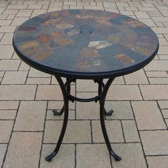 Oakland Living Stone Art Bistro Table & Reviews | Wayfair