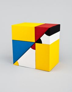 New work by Helen Friel for The Luxe Project by MOO: Paper models of Oliver Byrne's Euclid's Elements.