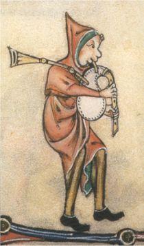 Piper from the Gorleston Psalter - c1310-1320 BCE.
