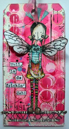 art, artist, wall art, painting, home decor, whimsical art, fairy, wings, pink