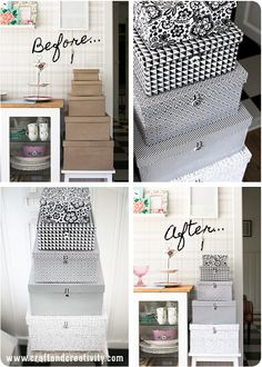 DIY Storage box makeover - by Craft & Creativity. Scroll down for English directions.