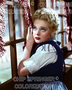 ALICE FAYE Looking out the Window   Beautiful 8x10 COLOR Photo by CHIP SPRINGER. Featured Ebay Listing. Please visit my Ebay Store, Legends of the Silver Screen, at http://legendsofthesilverscreen.com to see the current listings of your favorite Stars now in glorious color! Thanks for looking and check out my Youtube videos at https://www.youtube.com/channel/UCyX926rA5x4seARq5WC8_0w