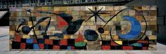 Joan Miro 1957 Mur de la lune Paris Unesco
