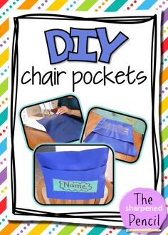 Kindergarten Classroom Seating Chair Pockets 32 Ideas For 2019 School Chair Covers, Classroom Chair Covers, Chair Back Covers, School Chairs, Office Chairs, Student Chair Pockets, School Chair Pockets, Classroom Organization, Classroom Management