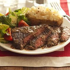 Seared Skirt Steak and Spinach Salad with Red Wine-Shallot Vinaigrette ...