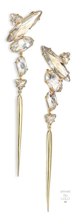 Alexis Bittar Miss Havisham Celestial Collection Stone Cluster Spike Clip-Ons | LOLO❤︎                                                                                                                                                      More