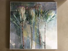Protea Art, Painting Flowers, Watercolor And Ink, Art Paintings, Artist At Work, Where To Go, Still Life, Printing, Study