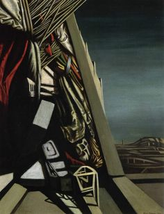 """Kay Sage """"Song of Sevens"""" 1950 Max Ernst, Rene Magritte, Surrealism Painting, Italian Painters, Surreal Art, Famous Artists, American Artists, Pattern Art, Art And Architecture"""