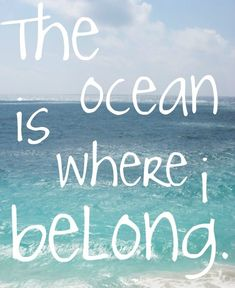 What can I say? It's true...for us dolphins, beach babes and mermaids - GoddessLife Blog ~ Inspirational Monday