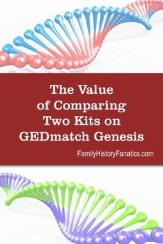 When comparing two dNA kits on GEDmatch Genesis, what can you learn that will help you in your genealogy research? Read this post to find out. Genealogy Forms, Genealogy Research, Family Genealogy, Dna Tree, Dna Kit, Family Tree Research, Ancestry Dna, Genetics, Family History