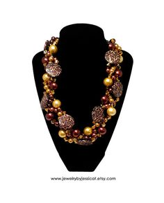 PETITE TWISTED Statement Necklace Animal Gold by JewelryByJessicaT, $75.00