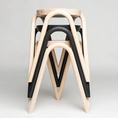 Vava Stool by Kristine Five Melvaer . Amazing stackable stools for the space challenged kitchen! Deck Furniture, Furniture Showroom, Steel Furniture, Apartment Furniture, Unique Furniture, Luxury Furniture, Furniture Decor, Furniture Design, Cheap Furniture