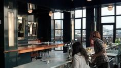 Our lacquer job at The Ides.   Inside The Wythe Hotel Roof Bar, The Ides: Williamsburg's New High Hotspot: Gothamist