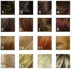 Hair Color Chart Number Colour Dye My Your