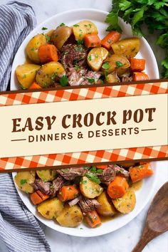 Crock Pot And Slow Cooker Fall Dinners And Desserts automne 18 Fall Dinners & Desserts You Can Make In A Slow Cooker Fall Crockpot Recipes, Fall Recipes, Cooking Recipes, Crockpot Meals, Slow Cooking, Quick Recipes, Freezer Meals, Cooking Ideas, Thanksgiving Recipes