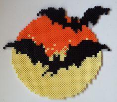Week 21, Day 145, Moon, Bats and Moon. 365 Day Perler Bead Challenge.