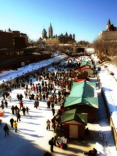 Rideau Canal, Ottawa, during Winterlude - If you're in the Capital why not enjoy Valentines with a nice skate on the canal? Beavertails anyone??