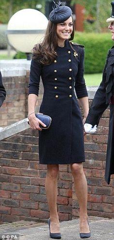 June 2011 - Alexander McQueen (Sarah Burton). Worn to present medals to  soldiers c159f2d2d4