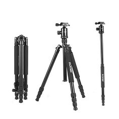 Zomei Z818 Professional Camera Tripod Monopod With Ball Head  Quick Release Plate and Carring Case  Black  -- More info could be found at the image url.