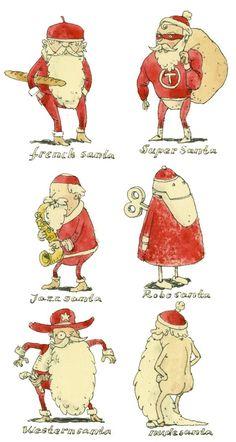 Santas, barbarians, characters and all the usual stuff by Mattias Adolfsson, via Behance