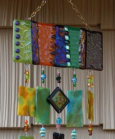 Kirks Glass Art Fused Stained Glass Wind Chime by kirksglassart, $149.00