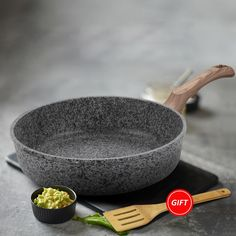 Kitchen Frying Pan without Lid Nonstick Stone Derived Coating Saucepan Dishwasher Safe Oven Induction Cooktop Safe Skillet Tapas, Griddle Grill, Skillet Pan, Gas Stove, Wooden Spatula, Buy Kitchen, Cooker, Dishwasher, Oven