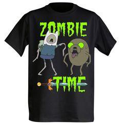 Old Glory - Adventure Time - Mens Zombie Time T-shirt Large Black Adventure Time Shirt, Adventure Time Finn, Hard Rock, Heavy Metal, Zombie Tsunami, Finn Jake, Zombie Party, Zombie Zombie, Zombie Attack