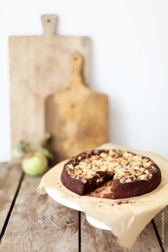 chocOlate hazelnut apple cake