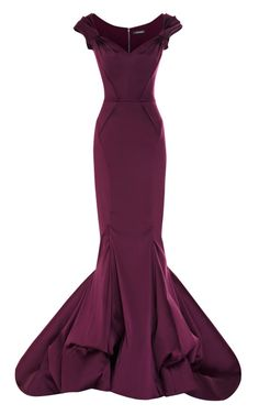 Stretch Duchess Off-The-Shoulder Gown by Zac Posen-- I need this dress!