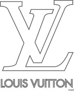 Louis vuitton Bead Embroidery Jewelry, Beaded Embroidery, Embroidery Patterns, Logo Deco, Tracing Art, Chanel Decor, Motifs Perler, Shirt Print Design, Stencil Patterns