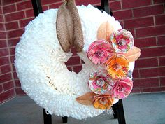 Coffee-Filter-Wreath-with-Cupcake-Liner-Flowers-