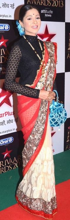 Avantika aka Mansi Salvi from 'Pyaar Ka Dard Hai Meetha Meetha Pyaara Pyaara' at the Star Parivaar Awards 2013 #Bollywood #Fashion