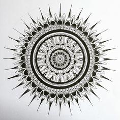 Grace Rowan Art   Black and white mandala - Pattern / Art Design / Zentangle