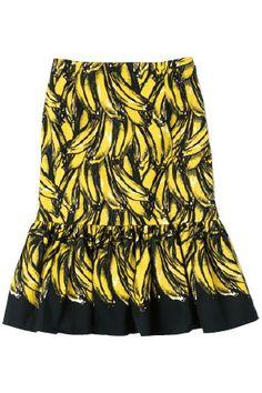 Prada Printed Banana Skirt (Spring 2011)