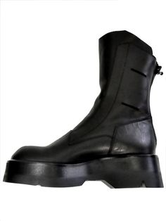 Julius seamed boots, black leather