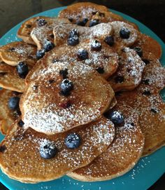 Grandma's Blueberry Pancakes - Take advantage of blueberry season with these delicious and nutritious pancakes made from scratch.