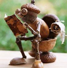Le Croc du Loup » Blog Archive » Petit bricolage d'Automne avec des glands, noix et châtaignes, joli non ?