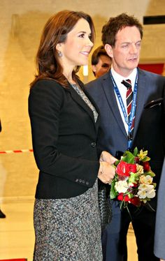 HRH Mary, Crown Princess of Denmark, Countess of Monpezat, on February 19, 2014.