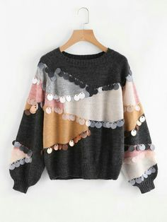 21.46 tecni coloured jumper with sequins