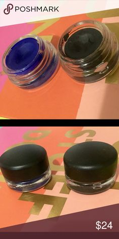 MAC Duo Chromaline eyeliner Lot Blue Cobalt Black I'm a Makeup Artist purging makeup I don't reach for that often. •THIS IS AUTHENTIC •  MAC eyeliner/eyeshadow 2 PC. lot 2 different shadows!   2 PC mac chromeline pots  Black black Marine ultra  Lots of wear left!  Great way to try a bunch of new colors at a fraction of the retail price.  *mineralize Shimmer Illumator  Sephora Urban Decay  limited edition    CHECK MY OTHER LISTINGS FOR QUALITY REASONABLY PRICED MAKEUP! MAC Cosmetics Makeup…