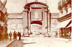"""Puerta de """"La Ciudadela Colonial"""", en su ubicación original - Montevideo"""