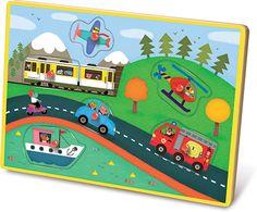 Transportation Peg Puzzle with Sound #4626 #magicforesttoys #vilac