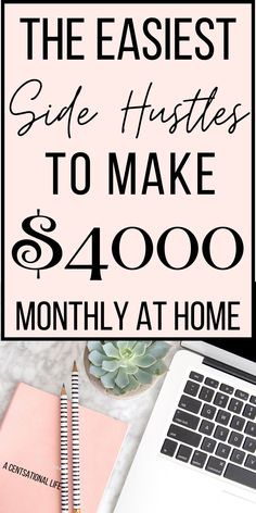 Easy ways to make money from home! No experience needed! Make money online for some quick cash! Side hustles anyone can do yo make a full time income at home! #makemoneyonline #money #sidehustle #income #workfromhome #jobsfromhome