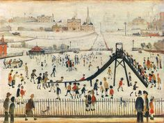 Childrens Playground Art Print by L S Lowry at King & McGaw. I like this print because it is playful. The children are wearing nice fall colors as well.