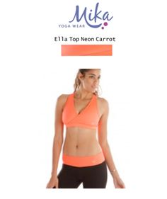 23f8033917 Mika Ella Top Neon Carrot   38. Available in xs