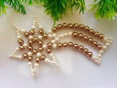 How to make christmas ornament | DIY beaded christmas ornament - YouTube