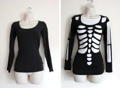 DIY scary skeleton Halloween costume