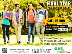 #Clickmyproject #FinalYearProjects #ProjectGuidance #LiveChat #IEEEFinalYearProject #FinalSemesterProjects PG Project Guidance @ Clickmyproject
