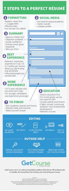 7 Steps to a Perfect #Resume #careers